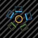 computer, group, network, server