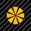 lemon, lime, orange, slice icon