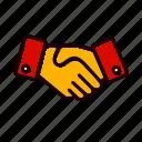agreement, business, deal, hand, handshake, shake icon