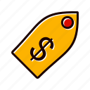 business, label, price, tag icon