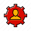 business, management, manager, user icon