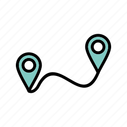 direction, gps, location, path, route icon