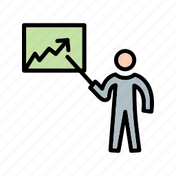 analysis, lecture, presentation, statistics icon