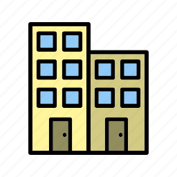 building, hotel, office icon