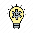 bulb, business, plan, strategy icon