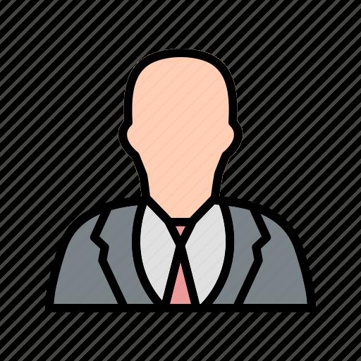 avatar, businessman, person, user icon