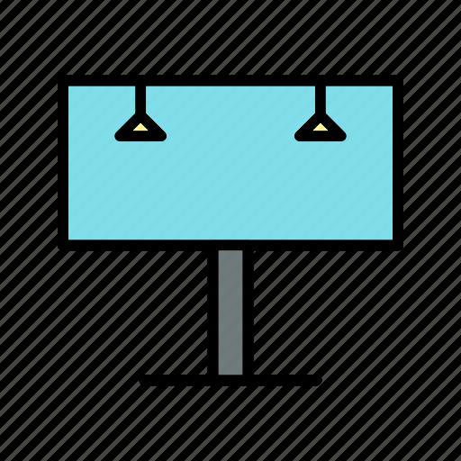 advertisement, advertising board, bill board, billboard icon