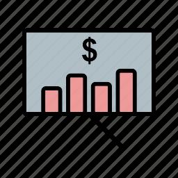 business, finance, graph, marketing, plan icon