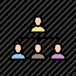 management, network, organization, people, team icon