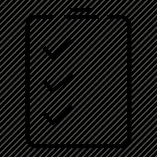 checklist, checkmark, clipboard, tasks icon