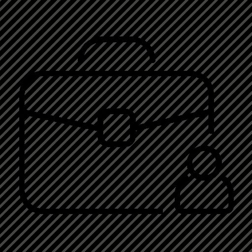 account, briefcase, business, customer, portfolio, profile icon