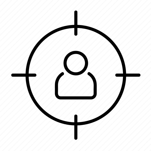 audience, business, client, customer, marketing, target icon