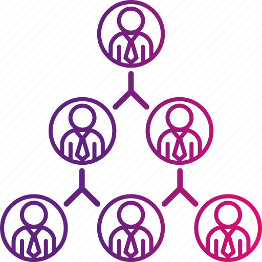 chart, organization, pyramid, structure icon