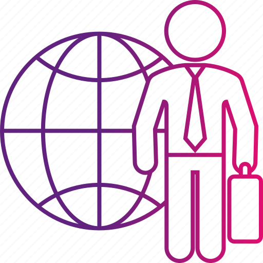 business, international, man, person, world icon