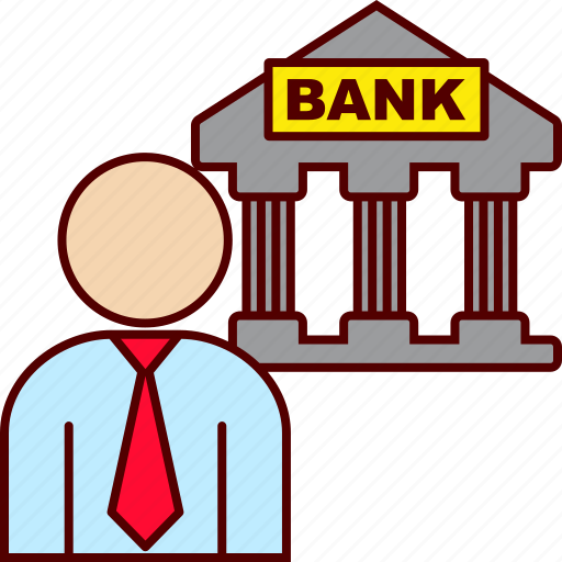bank, banking, business icon