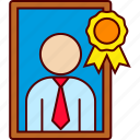 best, employee, executive, frame icon