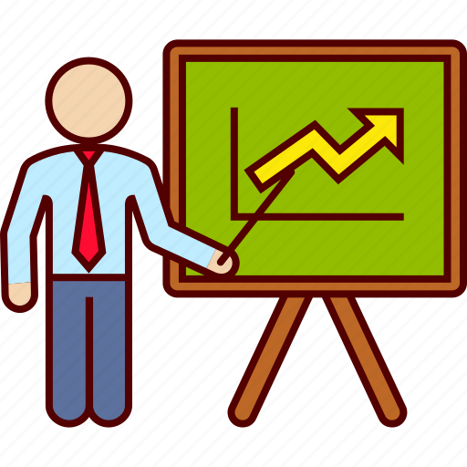 board, business, graphic, growing, increasing icon
