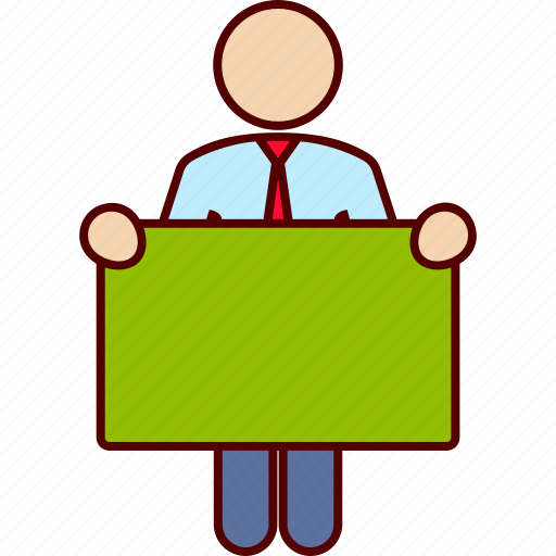 board, business, man icon
