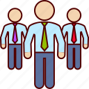 business, executives, man, men, team icon
