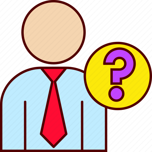 business, executive, man, question icon