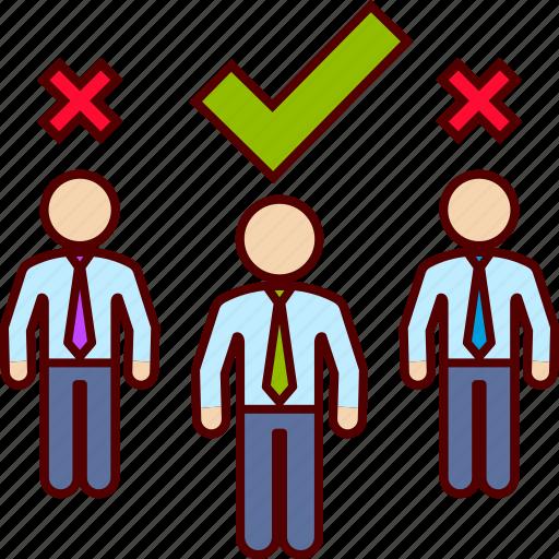 executive, job, selection icon