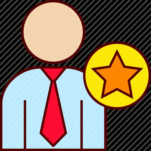 business, favorite, man icon