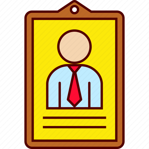 business, card, employee, id, man icon
