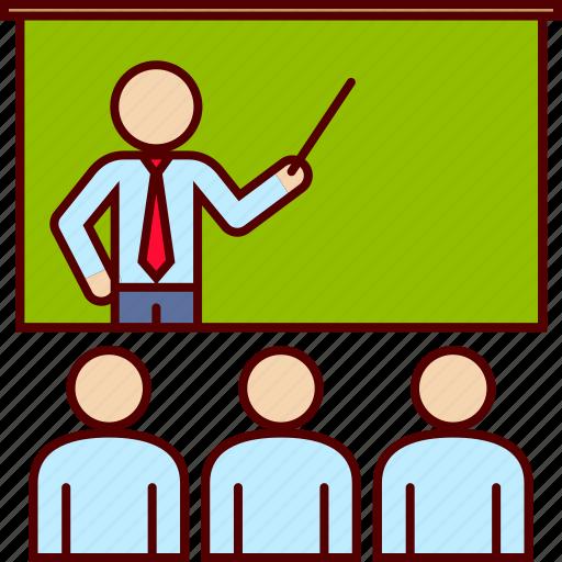 class, induction, teach, teaching icon