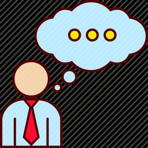 business, executive, man, thinking icon