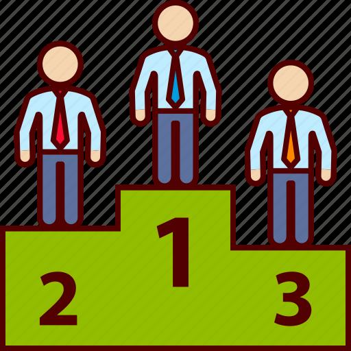 business, man, podium, winner icon
