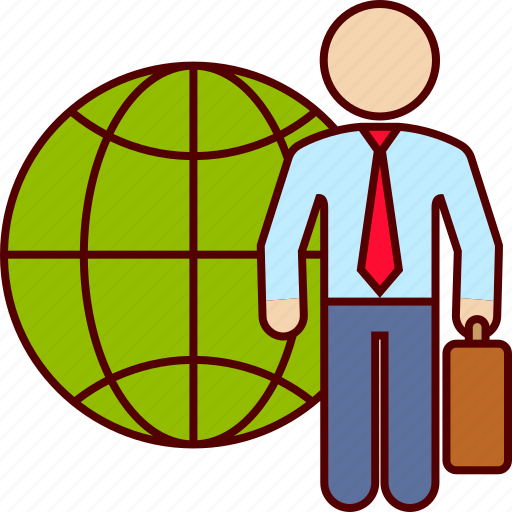 business, international, man, world icon