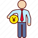 administration, business, money, yen icon