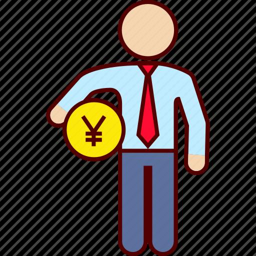 administration, business, money, yen icon