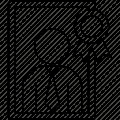 best, employee, executive, frame icon