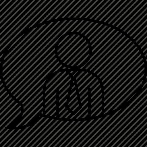 ballon, conversation, executive, text icon