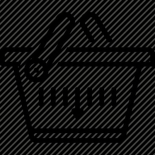 buying, commerce, grocery, merchandise, purchase, shopping basket, supermarket icon