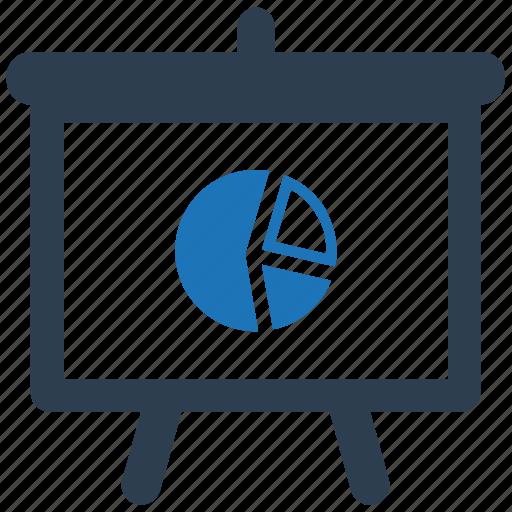 analytics, board, pie chart, statistics icon