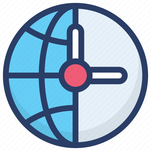 browser clock, global time, international time, planet time, time zone, world time icon