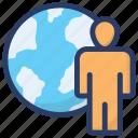 businessman, customer, global businessman, international client, world wide business icon