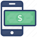 banking app, digital money, mobile banking, mobile transaction, online transaction icon
