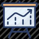 business graph, business growth, business profit, line chart, profit analysis, statistics icon
