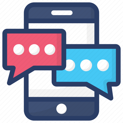 message, mobile, mobile chat, mobile chatting, mobile massage, texting icon
