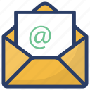 airmail, business document, email, inbox, message icon