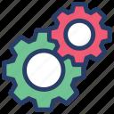 cogwheels, configuration tool, custom settings, gear, mechanical settings, setting tool icon
