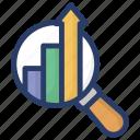 analysis, analytical processing, business monitoring, data monitoring, functional testing icon