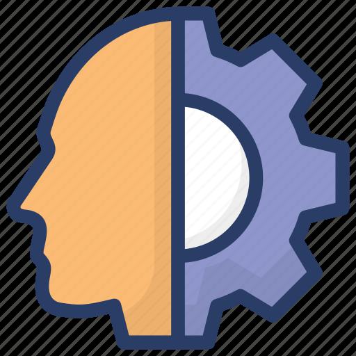 artificial intelligence, creative brain, creative thinking, headgear, thinking icon