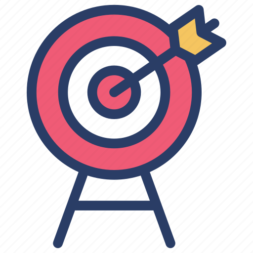 archery, business goal, business target, goal, sales target, target market icon