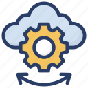 cloud computing, cloud configuration, cloud maintenance, cloud services, cloud technology icon