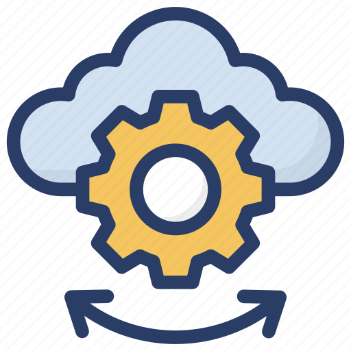 cloud computing, cloud configuration, cloud maintenance, cloud services, cloud technology icon
