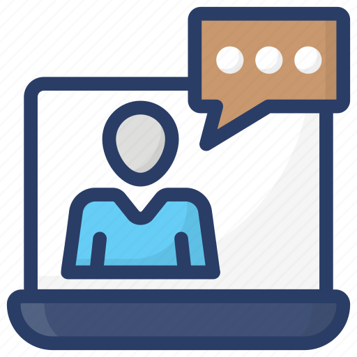 internet chat, online chat, online interview, video chat, video speech icon